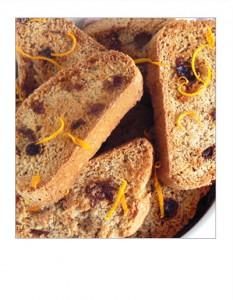 Receta Carquiñoles de pasas y naranja