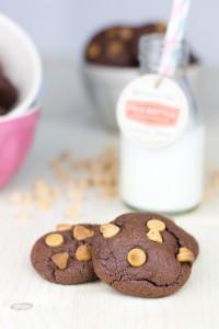 Receta Operación Bikini con Cookies de chocolate y mantequilla de cacahuete