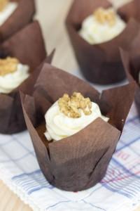 Receta Carrot Cake Muffins (Muffins de tarta de zanahoria)