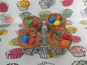 Receta Cupcakes de M&M