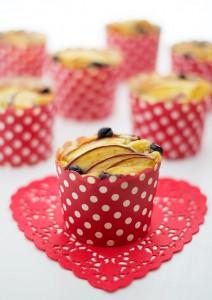 Receta Muffins de arándano y manzana roja