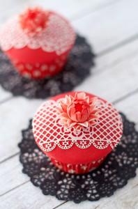Receta Cupcakes de almendra y chocolate blanco para el día de la madre