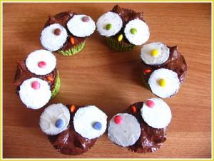 Receta ¡Cupcakes de búhos de chocolate, celebraciones y más!