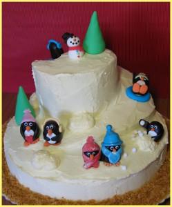 Receta ¡¡Mi orgullosa tarta de pingüinos!!