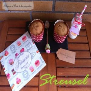 Receta Muffins de manzana y canela con streusel