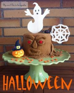 Receta Tarta árbol escalofriante de Halloween