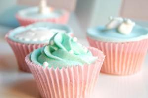 Receta Cupcakes para un recién nacido