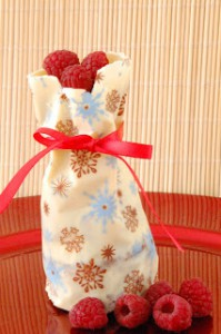 Receta Saquito de navidad de chocolate blanco
