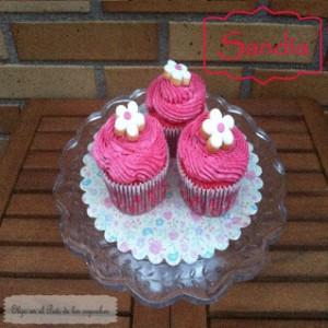 Receta Cupcakes de Sandia