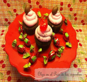 Receta Cupcakes de chocolate y cereza