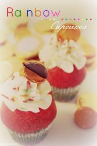 Receta St. Patrick´s day Rainbow cupcakes