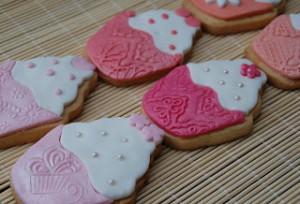 Receta Galletas decoradas con forma de cupcakes