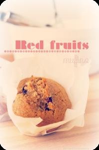 Receta Muffins de frutos rojos