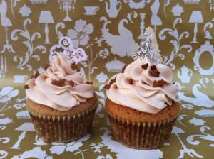 Receta Cupcakes de castañas asadas rellenos y frosting de castañas