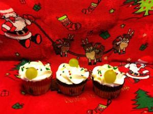 Receta Cupcakes de uva con frosting de champagne