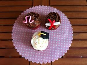 Receta Cupcakes de graduación