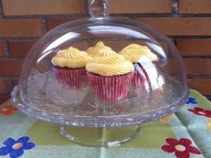 Receta Cupcakes de chocolate y melocotón