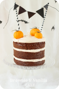Receta Halloween: Tarta de brownie y vainilla