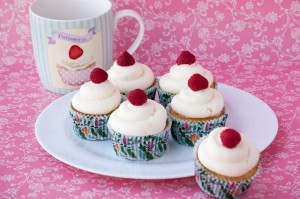 Receta Adoro a Peggy Porschen: Cupcakes de Limón y Frambuesa