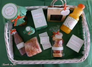 Receta Desayuno en verde y naranja