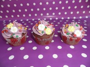 Receta Cupcakes otoñales 2: Cupcakes de chocolate con frosting de mora