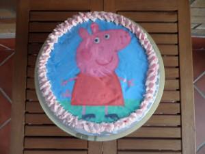Receta Tartas de cumpleaños Peppa Pig y Hello Kittie