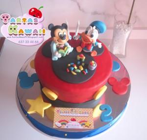 Receta Tarta de Mickey y Donald