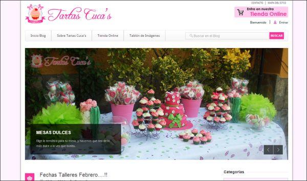 Página web Blog Tartas Cuca's