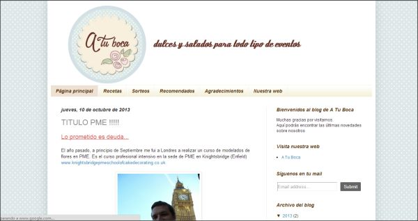 Página web El Blog de A Tu Boca