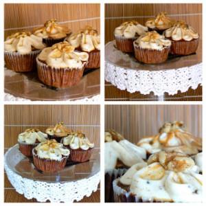 Receta Cupcakes jarabe de arce y nueces