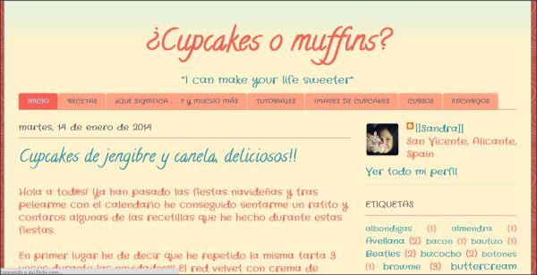 Página web ¿Cupcakes o muffins?