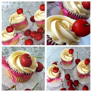 Receta Cherry Cupcakes