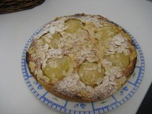 Receta Tarta de peras y almendras