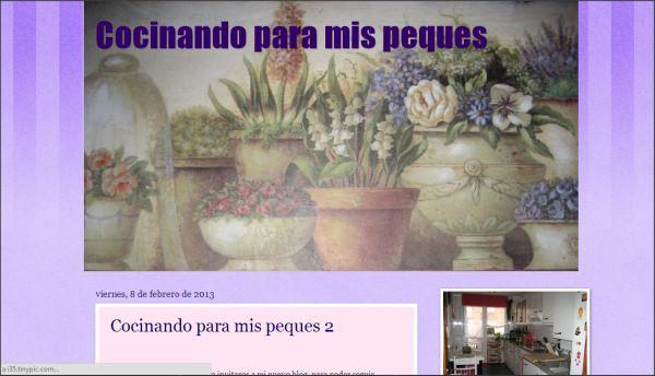 Página web Cocinando para mis peques
