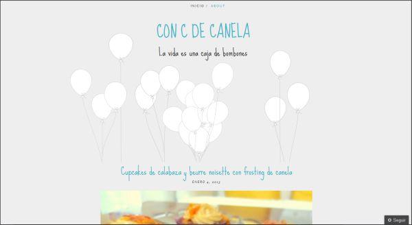 Página web Con C de Canela