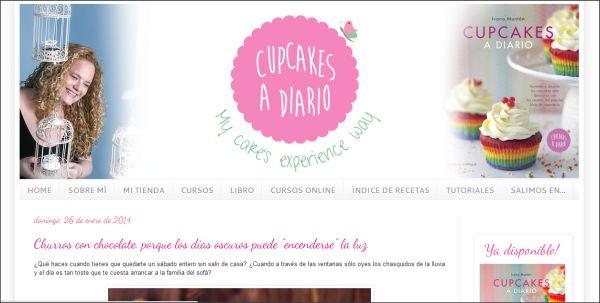 Página web Cupcakes a diario