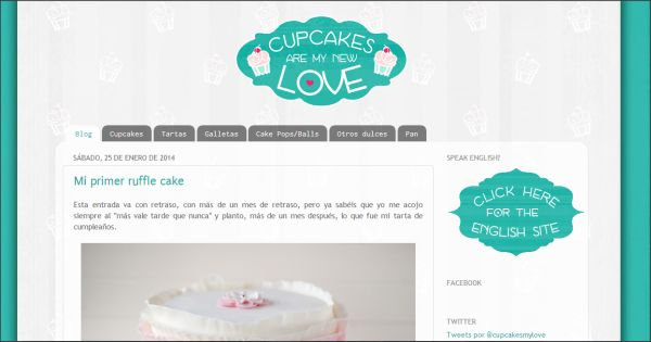 Página web Cupcakes are my new love