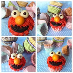 Receta Elmo Cupcakes