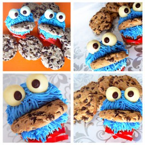 Receta Orange Cupcakes Cookie Monster