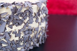 Receta Tarta de chocolate y vainilla (con frosting especial)