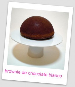 Receta Brownie de chocolate blanco