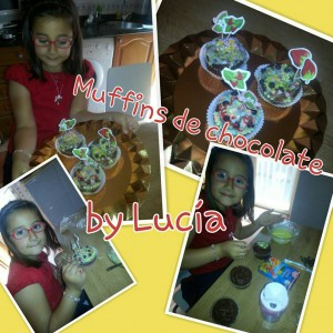 Receta Muffins de chocolate con pepitas… Made Lucía ♥