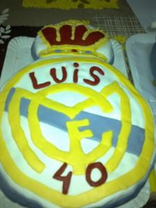 Receta Tarta Real Madrid