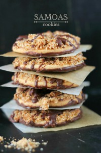Receta Samoas Girl Scout cookies. Galletas Samoas