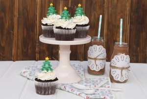 Receta CHOCOLATE CUPCAKES WITH ORANGE BLOSSOM FROSTING