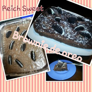 Receta Brownie de Oreo