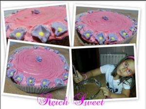Receta Maxi cupcake de limon y chocolate sin leche… made Lucia ♥