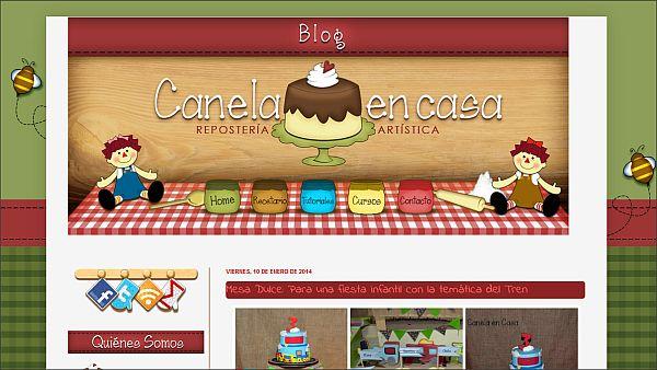Página web Canela en casa