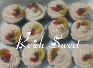 Receta Cupcakes de fresas y plátano