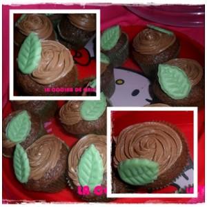 Receta CUPCAKES DE CHOCOLATE CON FROSTING DE NUTTELLA